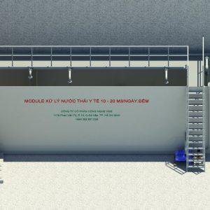 Module xử lý nước thải y tế 10m3/ ngày.đêm